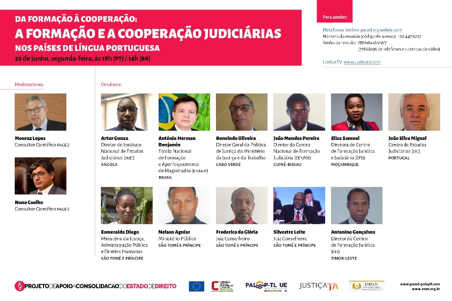 Ciclo de Conferências online COVID 19 e Estado de Direito: Da formação à cooperação: a formação e a cooperação judiciárias nos países de língua portuguesa